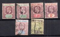 Gold Coast KEVII 1902 collection to 1/- SG44 WS17266