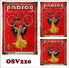 WEATHERED WATERSLIDE BUILDING SIGN DECALS RADIOR BICYCLE O SCALE OSV220