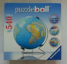 World Globe 3D Jigsaw Puzzle Ravensburger 540 Pieces