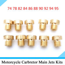 10Pcs Copper Main Jet Kit 74-95 Injector Nozzle for Motorcycle Carburetor Carb