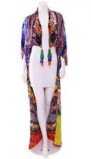 Camilla Franks ♡ Sacred Charm Long Silk Cape Jacket Multicolor Embellished Coat