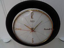 Reloj De Pared 50's/60's Batería, Metal Latón Y Negro Vintage, Retro Hall, salón