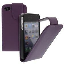 For Apple IPHONE 4/4S Phone Flip Case Cover Case Purple Case