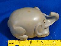 Hong Kong Zee Rare Elephant Friction Car Toy Dumbo-Style Retro Hard Plastic VTG