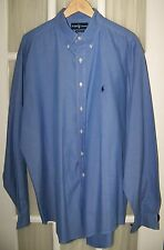 1 RALPH LAUREN POLO mens BLUE Classic Fit Shirt 100% Cotton BF BC Sz.17/XL VGC