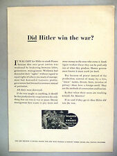 Warner & Swasey Machine Tools PRINT AD - 1946 ~~ Did Hitler Win the War?
