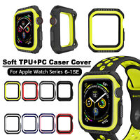 40/44mm Soft PC+TPU Case Cover iWatch Protector for Apple Watch Series 6 5 4 SE