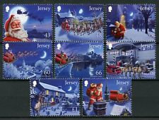 Jersey 2016 MNH Father Christmas in Jersey 8v Set Santa Claus Stamps
