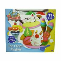 Fun Toy Dough Ice Cream Factory Playing Dough With Accessories & Moulds NEW
