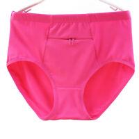 Zipper Pocket Panties Womens Cotton Underwear Briefs Solid Comfortable Knickers