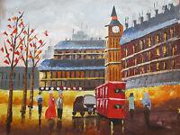 London Large Oil Painting Canvas Cityscape Contemporary Original Modern Art