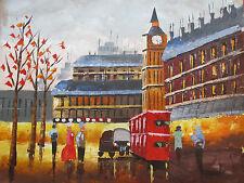 Londres Grande Peinture à l'huile toile paysage urbain contemporain Original art moderne