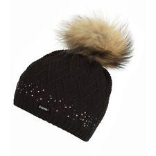 Eisbär Isabella Fur Crystal Damen Mütze schwarz