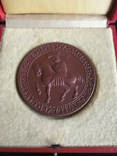GERMANY. MEISSEN (PORCELAIN)  SCHWERIN  TABLE MEDAL -:- IN VERY NICE CONDITION.