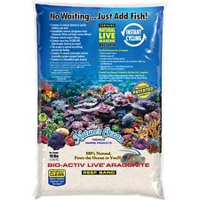 Nature's Ocean 20 lbs Natural White Bio-Activ Live Aragonite Reef Sand marine