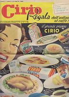 CIRIO REGALA DALL ANTIPASTO AL CAFFÈ catalogo premi 1951 Mondadori cucina cibo