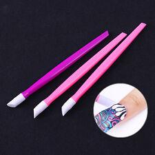 Nail Art Carving Emboss Press Flower Sticker Pen Rubber Head Tool Random Color
