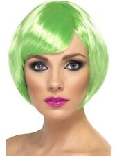 New Womens Girl Green Babe Wig St Patrick's Day Party Fancy Dress Fun Accessory