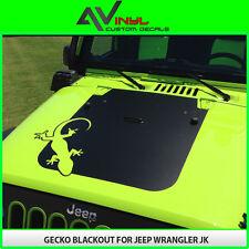 Hood Blackout GECKO Decal Matte Black Out w/ install kit Jeep Wrangler JK 07-18