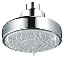 Chrome Round Five Function Fixed Shower Head Suitable For Low Or High Pressure 5
