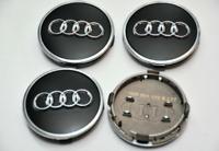 4 x 61mm Audi Schwarz Nabenkappen Felgendeckel Allufelge Satz 4M0601170