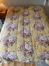 Ralph Lauren Full/Queen Comforter Yellow Cottage Floral Roses Sophie Brooke