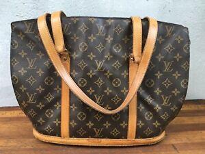 Authentic Vintage 1970's LOUIS VUITTON Monogram Babylone Tote Shoulder Bag