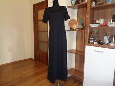 BOTTEGA ELISA CAVALETTI BLACK STRETCH JERSEY SHORT SLEEVED MAXI DRESS-SIZE S