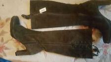 Suede Upper Block Casual NEXT Heels for Women