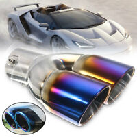 63mm Stainless Steel Chrome Colorful Car Rear Dual Exhaust Muffler Pipe Tail Tip