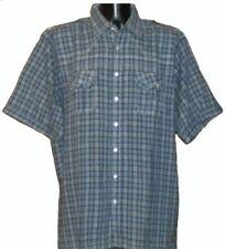 Camisas y polos de hombre cuello normal color principal azul