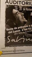 Sabina Auditorium Palma En Noviembre.Anuncio concierto.