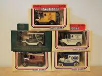 5 Lledo Days Gone Ford T Vans: Alton Towers, Marcol, Echo Ambulance & Automodel