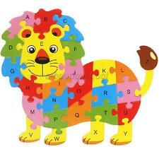 Alphabet Puzzle 3D En Bois Jeux Éducatif Animaux Lion Jouet D'enfant Cadeau