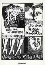 Emil Jannings Elisabeth Berger Tauber-Karl Rössing-idolâtrie 1929 Monogr