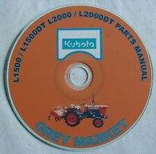 Kubota L1500, 1500DT, 2000, 2000DT Parts Manual CD (Japanese / English)