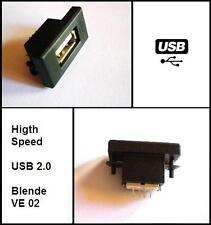 USB Einbaubuchse Einbausteckdose passend für BMW Audi VW Autoradio E46 E90 A4 A6