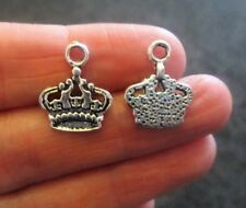 Pack of 10 Tibetan Silver Crown Charms 17mm x 14mm