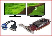 Dell TOWER Video Card Optiplex Vostro Dimension Inspiron + Dual Monitors VGA