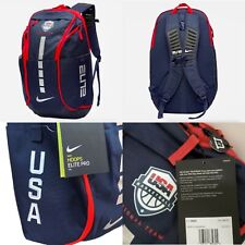 Nike Hoops Elite Pro USA Basketball Team Backpack Blue Red White CK1198-451 NWT