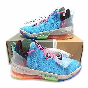 Nike Lebron 18 'Best of 1-9' Blue/Multicolor Men's Size 12 New/No Lid DM2813-400