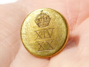Vintage 14/20th Kings Hussars Button  XIV XX small cuff #FH40