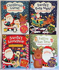 Set of 4 Christmas Activity, Sticker Books, Santa's Busy Night