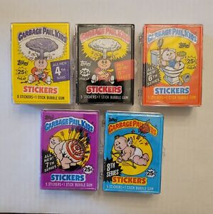 Garbage Pail Kids Original Series OS4,5,6,7,8 Complete Base Sets With Wrappers