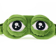 Frog Sad frog 3D Eye Mask Cover Sleeping Funny Rest Sleep Funny Gift LTUS