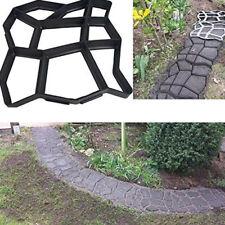 Diy Road Paving Cement Stone Mould Brick Garden Plastic Path Maker Mold Black