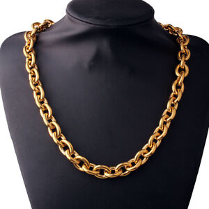 "Goth Jewelry Men's Necklace Bracelet Hip Hop Punk Boys Gift Collar Choker 8""-36"""
