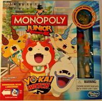 New Monopoly JR Junior Yo-kai Watch Edition Board Game w Exclusive Medal Yokai