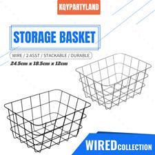 PK2 Wire Storage Basket 24x18x12 Home Kitchen Fruit Veggies Organiser Container