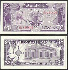 SUD AN - 25 piastres AH1407 1987AD P# 37 Africa banknote - Edelweiss Coins